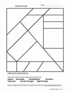 geometry puzzle 2nd 3rd grade worksheet lesson planet