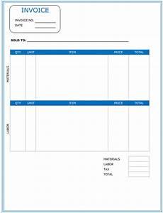 labor receipt template free contractor invoice template 6 printable contractor invoices