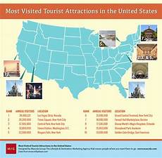 infographic most visited tourist attractions in the u s