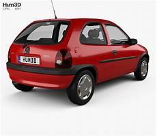 Opel Corsa B 3 Door Hatchback 1998 3d Model Vehicles