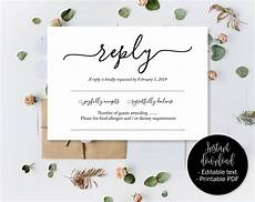 rsvp card template 8 per page wedding rsvp cards wedding reply attendance acceptance