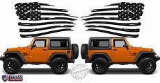 2 6 or 12 inch american distressed wavy flag vinyl decals fits jeep roe graphics and apparel