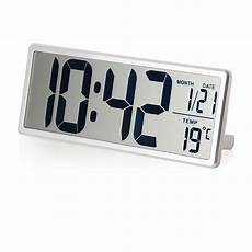 large lcd screen digital wall clock with kickout stand for