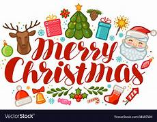 merry christmas greeting card or banner vector image