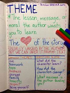 tale lesson 3rd grade 15011 theme anchor chart for reading comprehension teacherkarma theme anchor charts reading