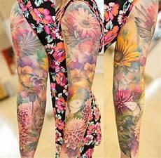 Ganzer Arm Frau - flower tattoos tatoeage idee 235 n tatoeages