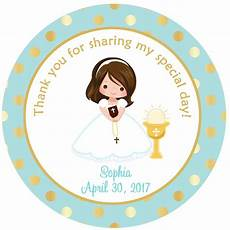 first communion sticker first communion favor tag holy etsy