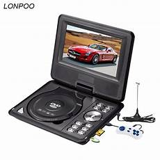 lonpoo newest 7 inch portable dvd player with tft screen