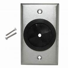 Cable Pass Through Wall Plate Single Stainless