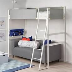 struttura letto a soppalco vitval struttura per letto a soppalco bianco grigio