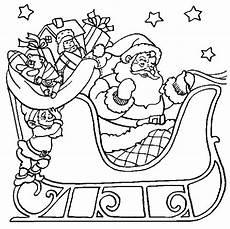 Ausmalbild Weihnachtsmann Mit Schlitten Weihnachten Schlitten Malvorlagen Malvorlagen1001 De