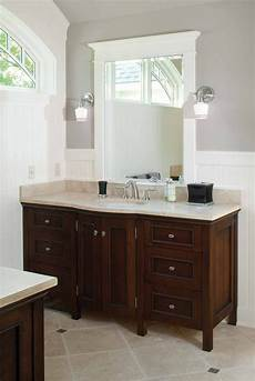 wall color and white wainscot dark cabinet light countertop bathroom ideas bathroom