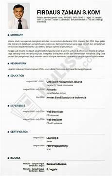 contoh resume yang paling baik contoh resume lamaran kerja online gambar con