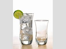 NEW Curved Glasses 16 Piece Glass Set, Drinking Tumbler