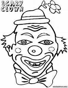 scary clown coloring pages coloring pages to