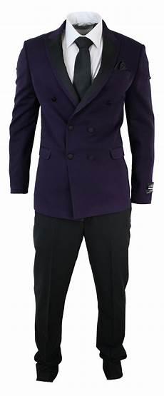 costume crois 233 homme violet prune pantalon noir