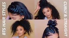 back to school hairstyles curly straight jasmeannnn youtube