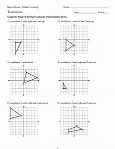 graphing and writing the rule for transformations worksheet for 8th 11th grade lesson planet