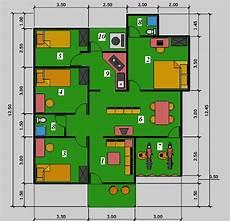 Model Denah Rumah Minimalis 1 Lantai Dengan Kolam Renang