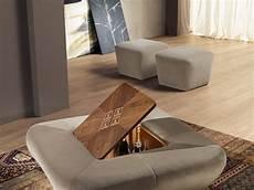 table basse pouf intégré carpanelli contemporary morfeo pouf table basse avec bar