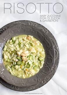 risotto con zucchine e fiori di zucca risotto con zucchine fiori di zucca e gamberoni