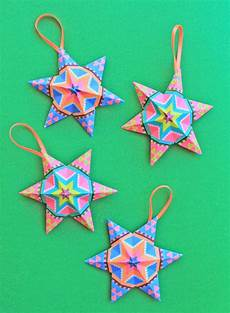 Papiersterne Basteln Vorlagen - 4 and easy to make mexican paper craft decorations