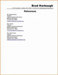 professional reference letter template reference page for resume resume references