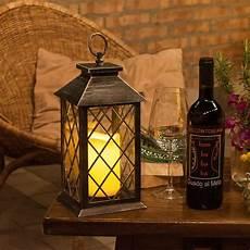 Lanterne Vieux Noir Avec Bougie H 34 Cm Led Blanc Chaud