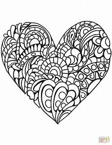 mandala coloring pages hearts 17922 zentangle coloring page free printable coloring pages