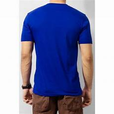 royal blue v neck plain t shirt
