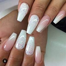 These White Acrylic Nails Nail Designs Ombre Nail