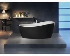 badewanne freistehend schwarz freistehende badewanne sempre 180x85 cm schwarz wei 223 inkl