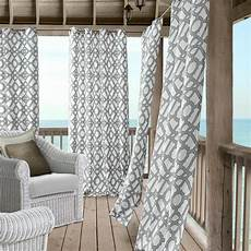 elrene marin 50 in w 108 in l polyester indoor outdoor single window curtain panel in gray