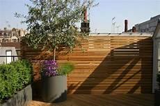 Coole Dachterrasse Designs Holz Sichtschutz Topf
