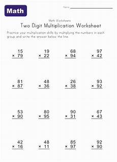 5th grade math worksheet multiplication two digit multiplication worksheet 4 the braids and