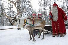 travel chilling with santa in his