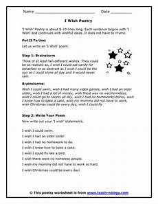 poem worksheets for grade 7 25434 click to print poetry i wish and poem