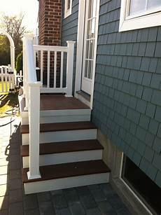Front Door Entrance Patio by Outdoor Steps With Railing Side Entrance Backdoor Backyard
