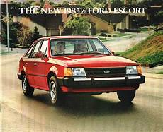 old car owners manuals 1985 ford escort free book repair manuals 1985 1 2 ford escort brochure phlet l gl station wagon 85 ebay