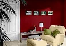 Farbgestaltung F 252 R Ein Wohnzimmer In Den Wandfarben Rot