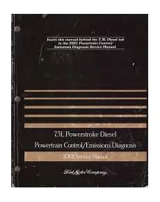 automotive service manuals 2000 ford f250 engine control 2001 ford f250 f350 f450 7 3l powerstroke diesel powertrain control emissions diagnosis service