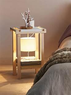 le de chevet en bois table de chevet lota