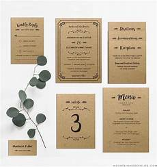 whimsical rustic diy wedding invitation