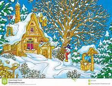 Malvorlagen Weihnachtsmann Haus Haus Weihnachtsmann Stock Abbildung Illustration
