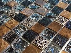 Mosaik Fliesen Restposten - crush marmormosaik glasmosaik effekt mosaik fliese braun