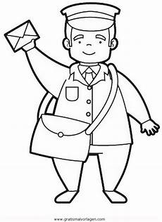 postbote 0 gratis malvorlage in berufe handwerk menschen