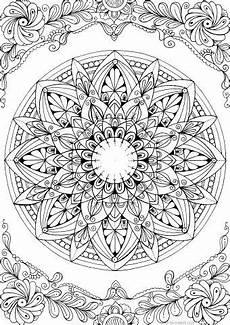 beautiful mandala coloring mandala printable coloring