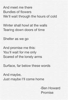 ben howard promise lyrics ben howard promise lyrics