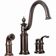 moen kitchen faucets rubbed bronze moen s711orb waterhill one handle kitchen faucet in rubbed bronze