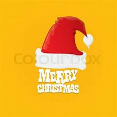 santa hat vector merry christmas card or background vector illustration stock